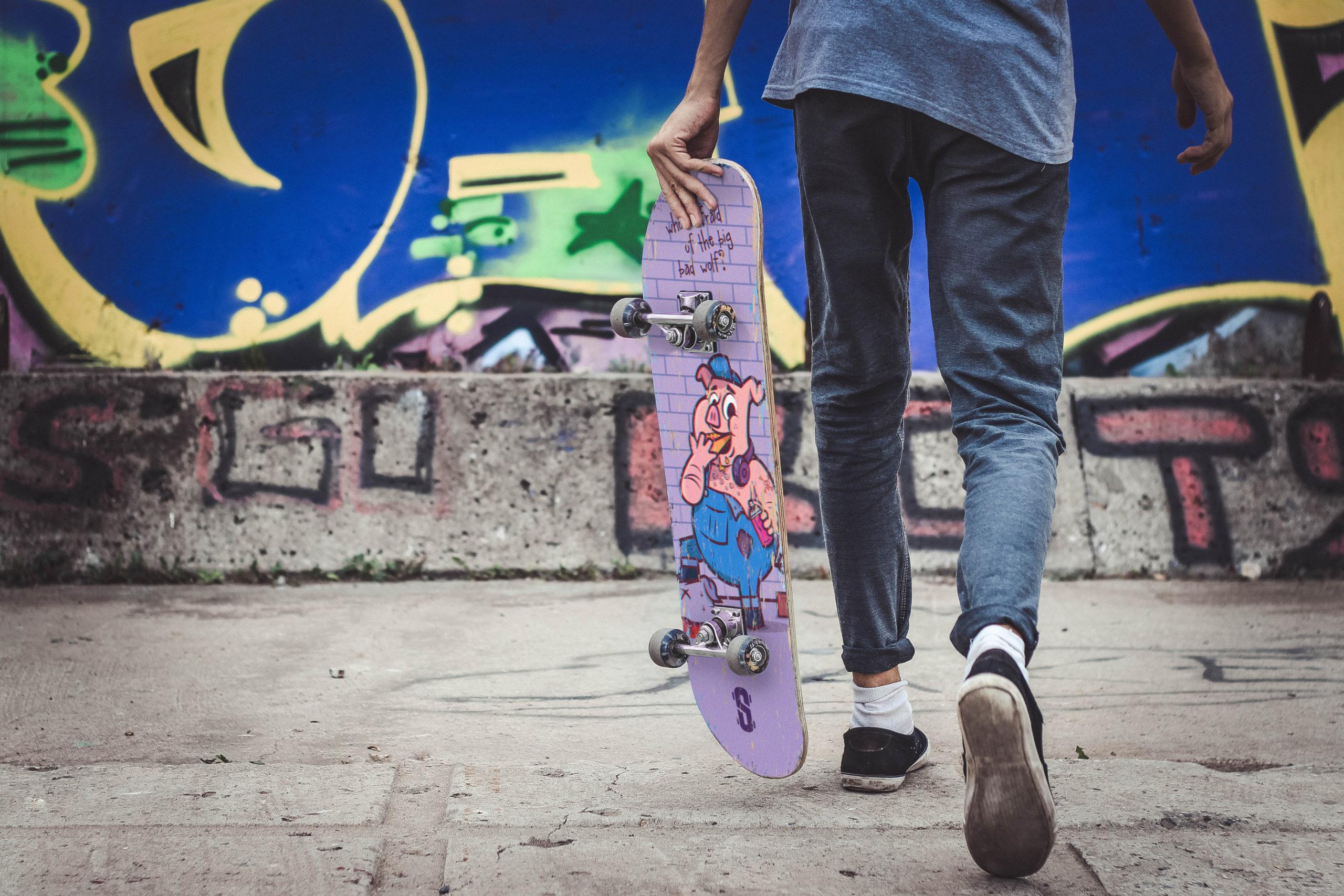 Skatehut banner by UK based designer and illustrator Dan Bailey